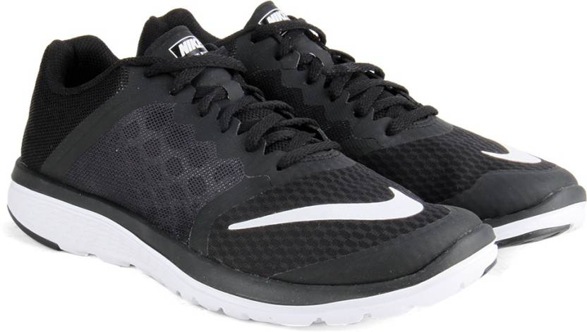 huge discount 25ea8 6cec3 Nike FS LITE RUN Running Shoes For Men (Black, White)