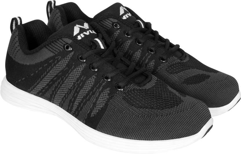 f31a33986 Nivia Stout Running Shoes For Men - Buy BLACK/GREY Color Nivia Stout ...