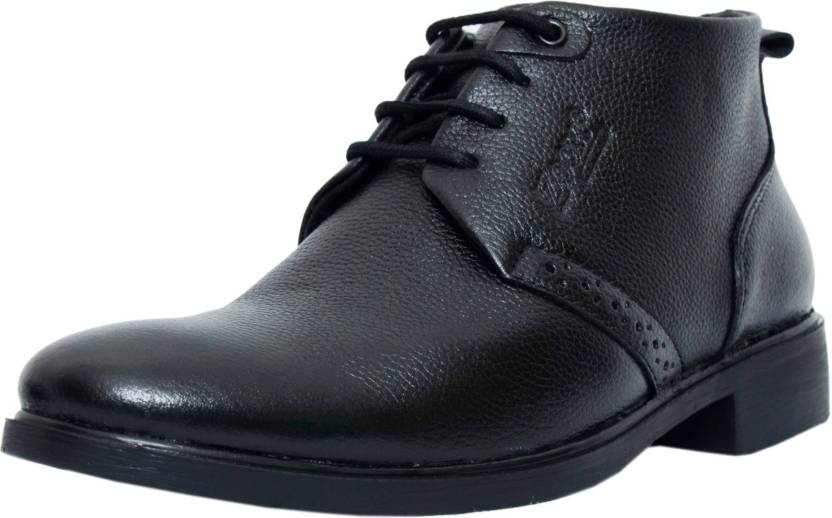 Zoom Shoes For Men's Genuine Leather Shoes and Formal Shoes online B 091 Black 7 Lace Up For Men