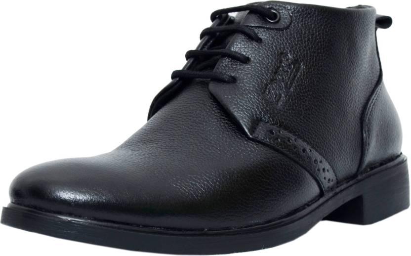 huge selection of 755fa 3af45 Zoom Shoes For Men s Genuine Leather Shoes and Formal Shoes online  B-091-Black-7 Lace Up For Men (Black)