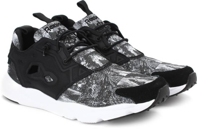 87ec28fcd15f0 REEBOK FURYLITE JACQUARD Running Shoes For Men - Buy BLACK WHITE ...