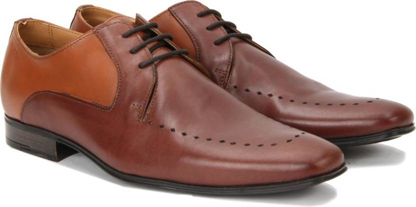 503c2bff8086 Ruosh Genuine Leather Lace up Shoes For Men - Buy Tan Light Brown ...