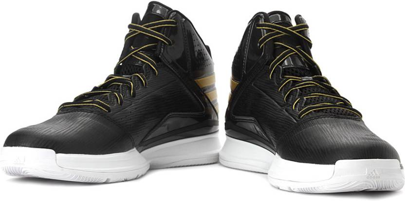 best website e1c8e 1ebe7 ADIDAS Transcend Basketball Shoes For Men (Gold, Black)