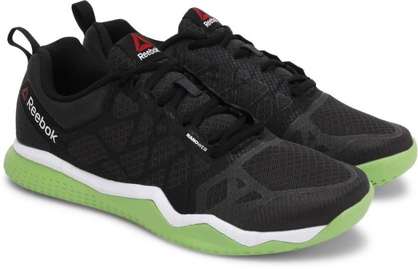1e593a21bf7906 REEBOK ZPRINT TRAIN Training   Gym Shoes For Men - Buy COAL BLACK ...