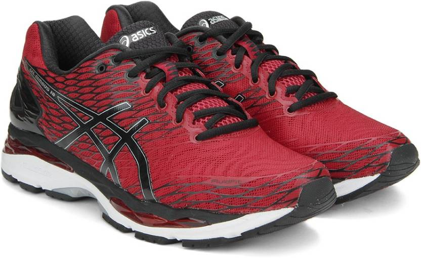 Asics GEL-NIMBUS 18 Running Shoes For Men - Buy RACING RED BLACK ... ef1a79b91