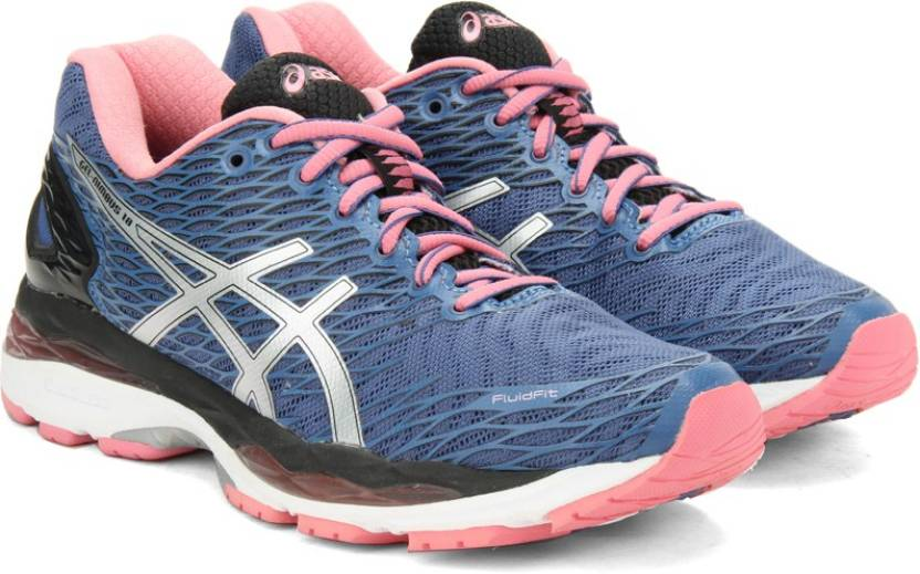 382a3caa9e7d1b Asics GEL-NIMBUS 18 Running Shoes For Women - Buy SLTEBL/SLVR ...