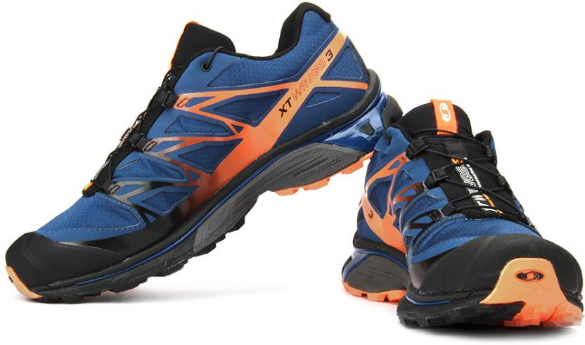 brand new f836c 4c1ee Salomon XT Wings 3 Trail Running Shoes For Men (Blue)