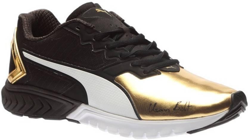 96b3df96196 Puma IGNITE Dual Bolt Running Shoes For Men - Buy Puma Black-Gold ...