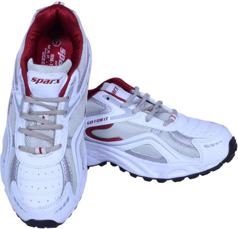 30b7d9d0ddb7e Sparx Running Shoes For Men - Buy White Maroon Color Sparx Running ...