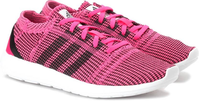 best website af410 45149 ADIDAS Element Refine Tricot W Running Shoes For Women (Black, Pink)