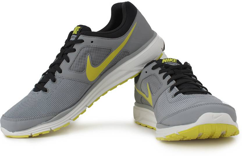 sneakers for cheap 05ca4 ef8dc Nike Lunarfly 4 Running Shoes For Men (Grey, Yellow)