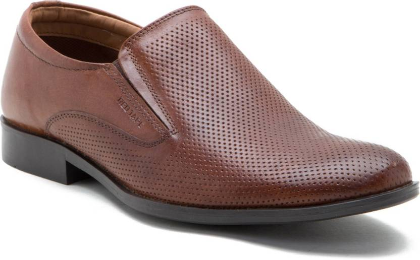 Red Tape Genuine Leather Slip On Shoes