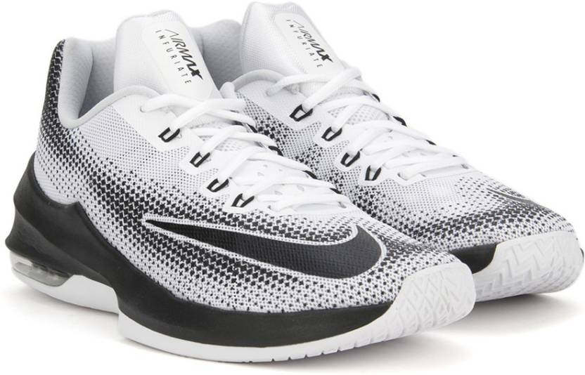 huge discount 216f7 b98f1 Nike AIR MAX INFURIATE LOW Basketball Shoes For Men (Black, White)