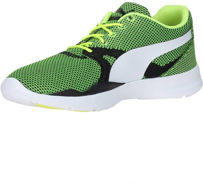 12dab8be9b16e1 Puma Duplex Evo Knit Running Shoes For Men - Buy Green Color Puma ...