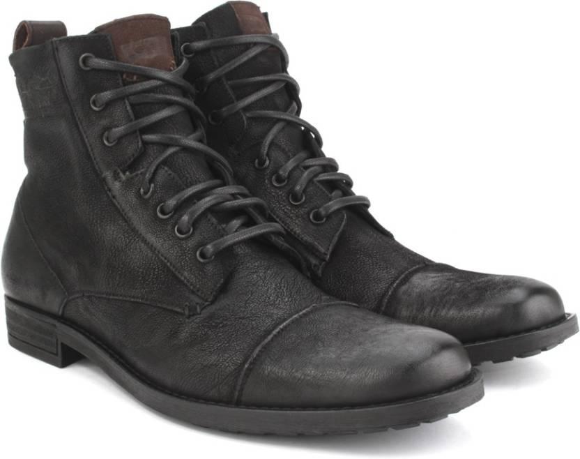 aa1d21f415403 Levi's New York Lace Men Boots For Men - Buy Black Color Levi's New ...