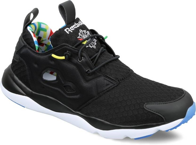 cheap for discount b2ef5 5a3ae REEBOK FURYLITE BF Running Shoes For Men - Buy BLACK WHITE BGHTYELLOW Color REEBOK  FURYLITE BF Running Shoes For Men Online at Best Price - Shop Online for ...