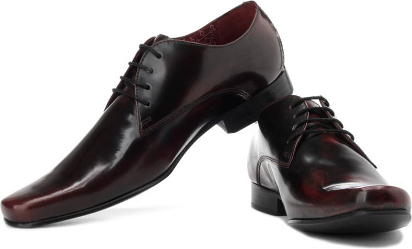5861614b5c Park Avenue Genuine Leather Lace Up Shoes For Men - Buy Burgundy D ...