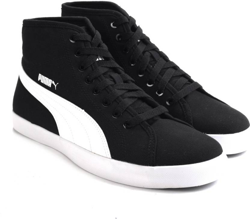 39fbd8ba0e6 Puma Elsu v2 Mid CV DP Men Canvas Shoes For Men - Buy black-white ...