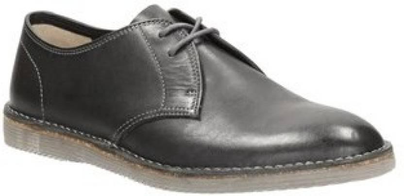4af086a98ca3 Clarks Darning Walk Black Leather Sneakers For Men - Buy BLACK Color ...