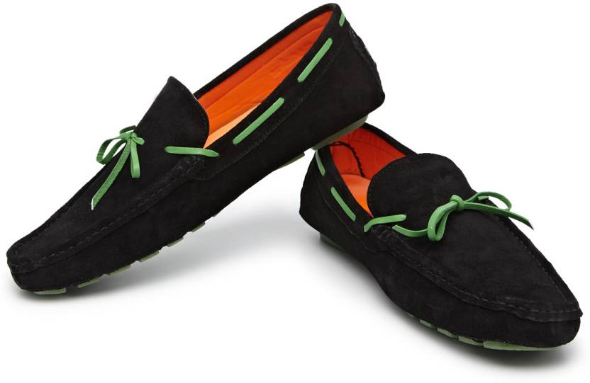 dd649af6b Style Centrum Champion Camp Mocs with Neon Lace Loafers For Men (Black)