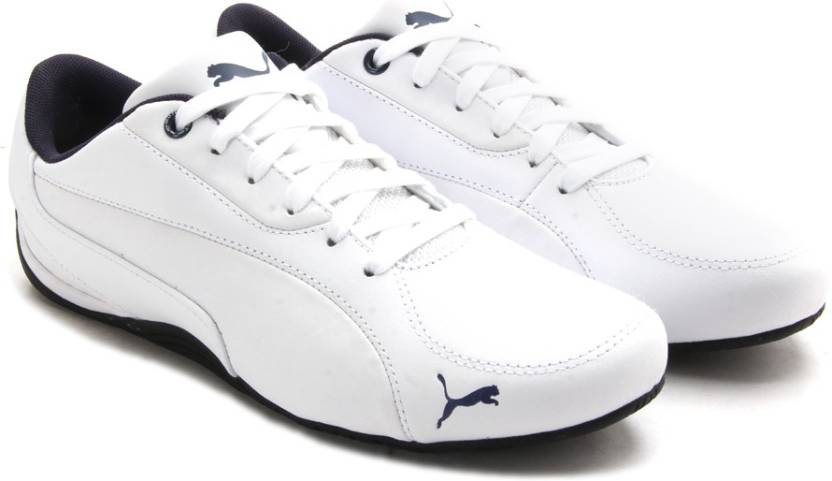 Puma Drift Cat 5 LEA Men Sneakers For Men - Buy white-blue heaven ... 01e211db88eeb