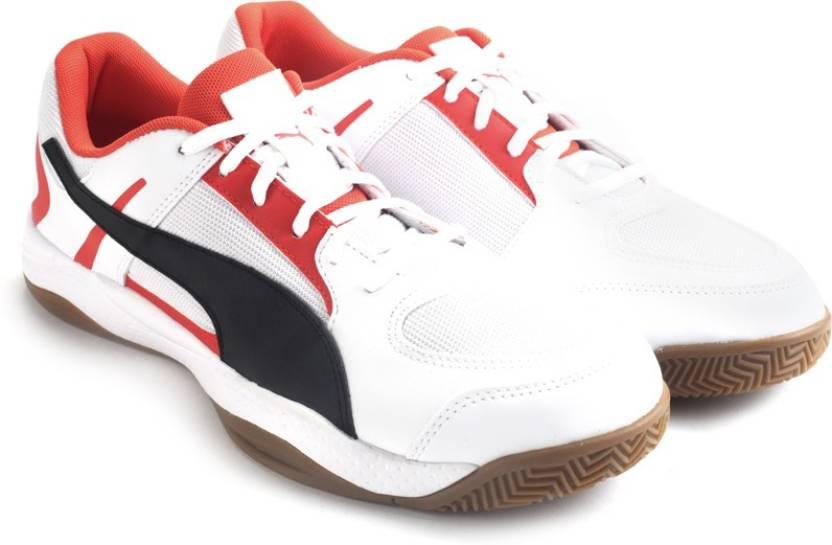 Puma Veloz Indoor II Men Indoor Shoes For Men - Buy white-black-puma ... 6f0fc4d66