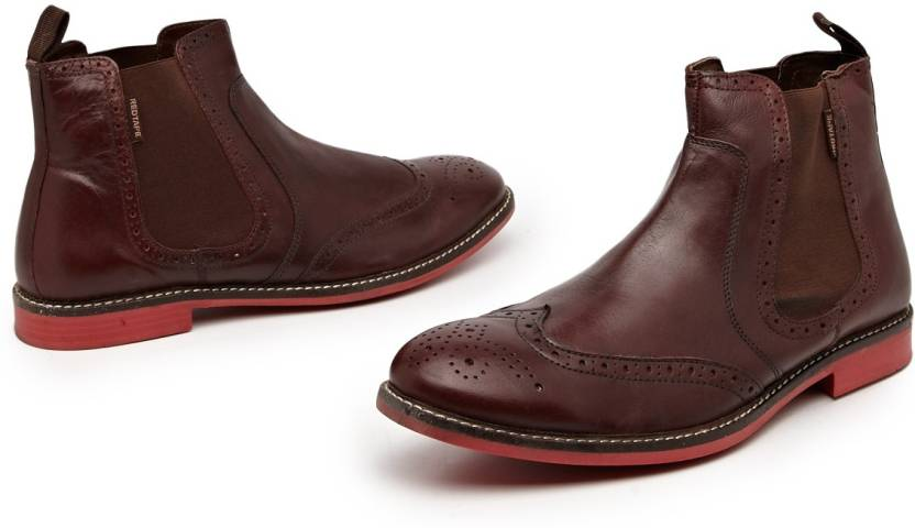 fd64e392bcd Red Tape Chelsea Boots For Men - Buy Dark Brown Color Red Tape ...