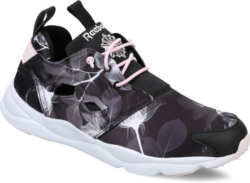 REEBOK FURYLITE GRAPHIC Running Shoes For Women - Buy BLACK WHITE ... adc287565e