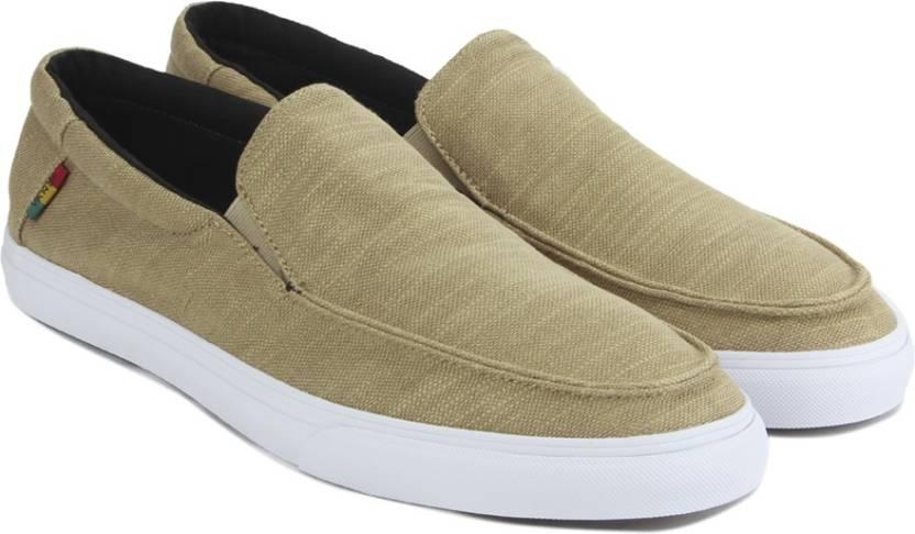 2ffdb1061f Vans BALI SF Loafers For Men - Buy (HEMP) KHAKI RASTA WHITE Color ...