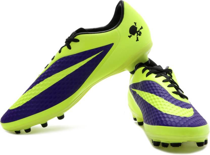 quality design c775f cda7d Nike Hypervenom Phelon Fg Football Studs For Men (Blue, Yellow, Black)