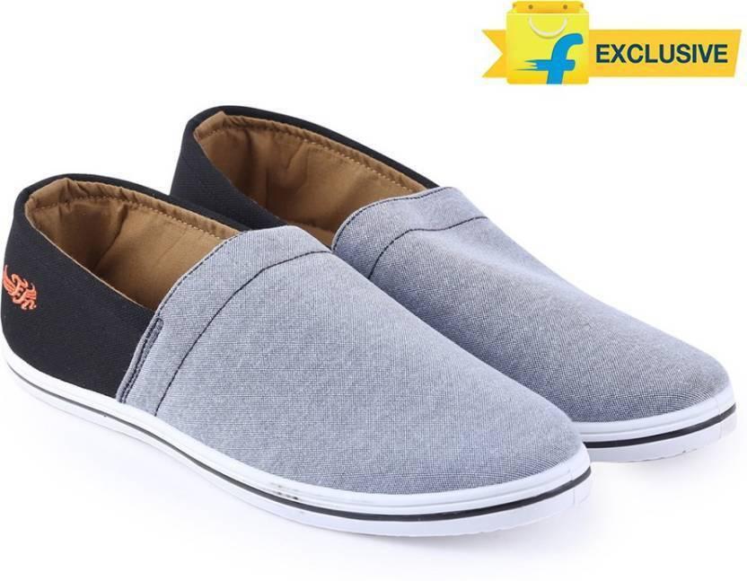 cc712ec2434 Flying Machine Canvas Canvas Loafers For Men - Buy DK GREY- BLACK ...