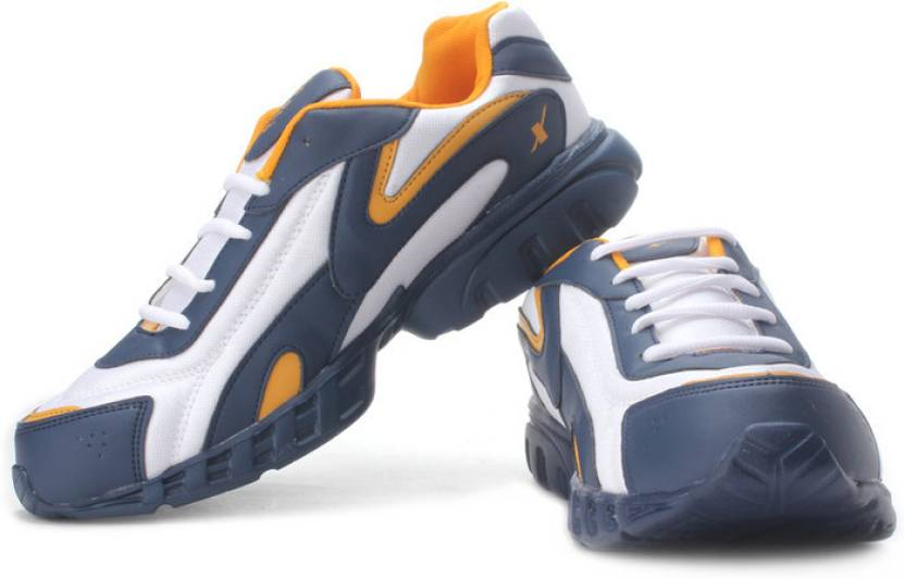Sparx SM-34 Running Shoes For Men(Blue, White, Yellow)
