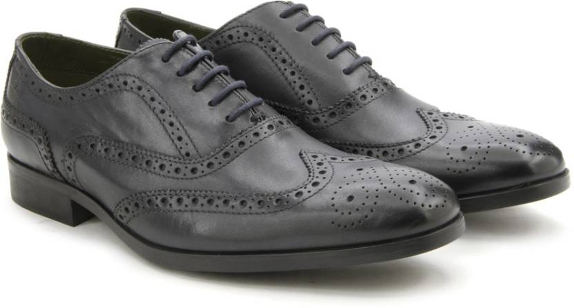 1bcda075a2a Clarks Banfield Limit Navy Leather lace up For Men - Buy NAVY Color ...
