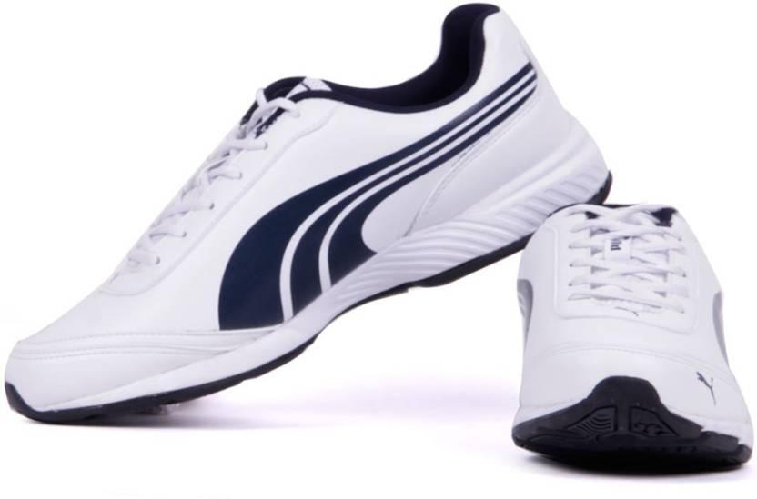 61ed7da09d0e Puma Roadstar XT II DP Running Shoes For Men - Buy White-Navy Blue ...
