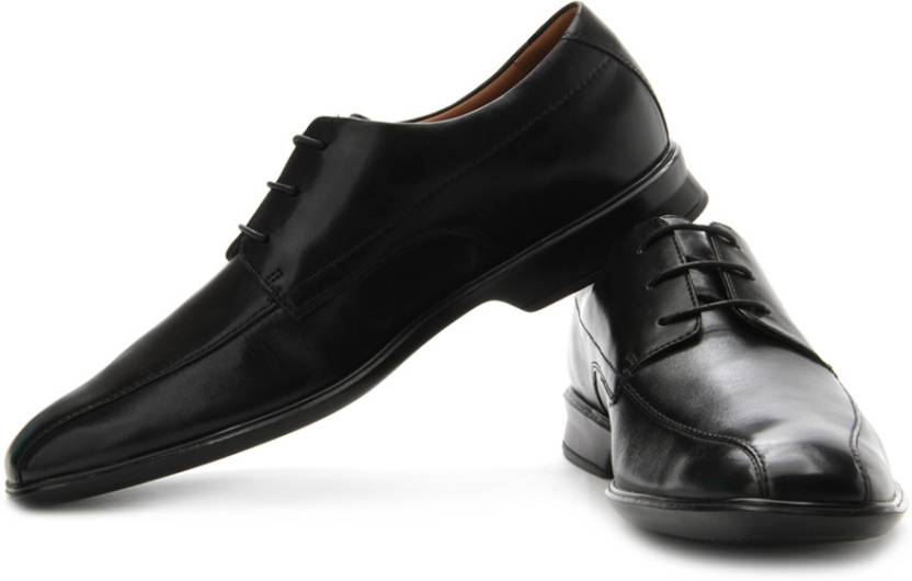 02ff692fca41 Clarks Goya Band Genuine Leather Lace Up Shoes For Men - Buy Black ...
