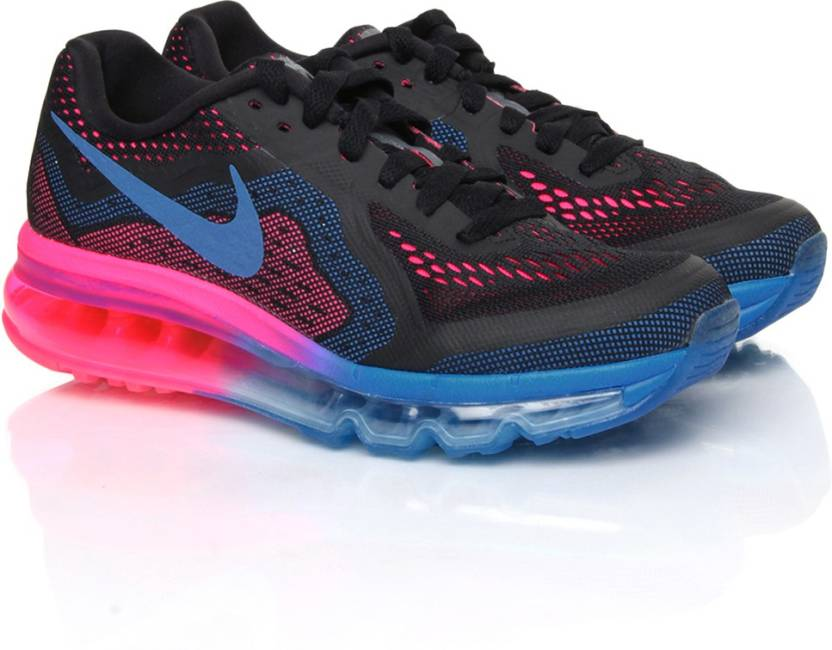best website 6aedb dc927 Nike Wmns Air Max 2014 Running Shoes For Women (Black)
