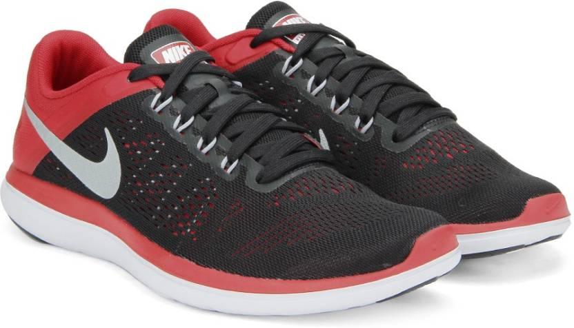 f13051a6a437 Nike FLEX 2016 Running Shoes For Men - Buy BLK MTLLCSLVR-UNVRSTY RD ...