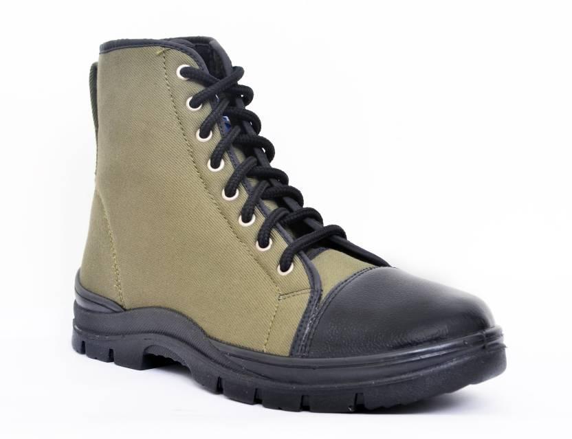 de3b1e41a427 Allen Cooper Jungle Boots For Men - Buy Olive Green Color Allen ...