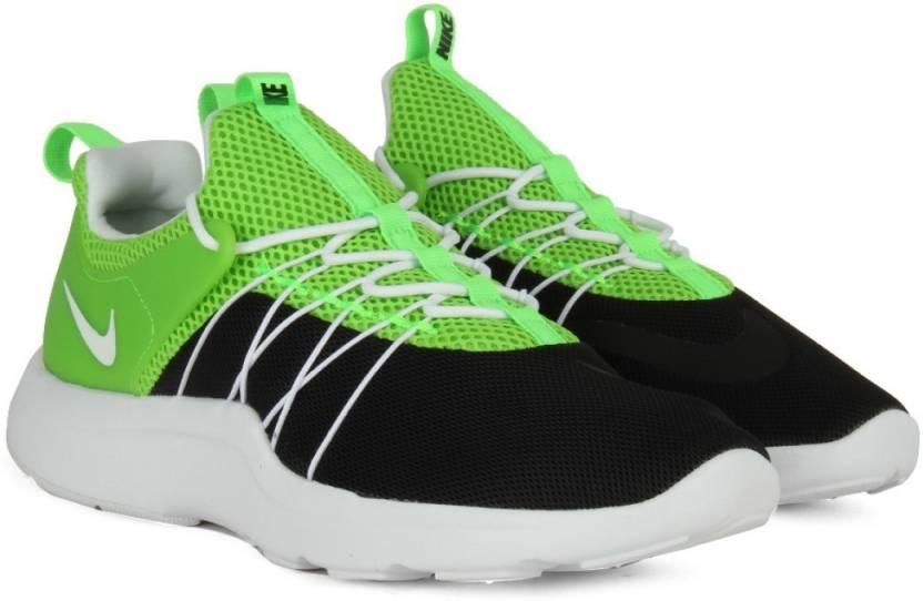 sports shoes a7a91 235e6 Nike DARWIN Sneakers For Men (Black, White, Green)