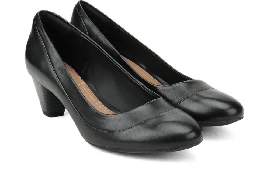 Clarks Denny Harbour Black Leather Slip on For Women