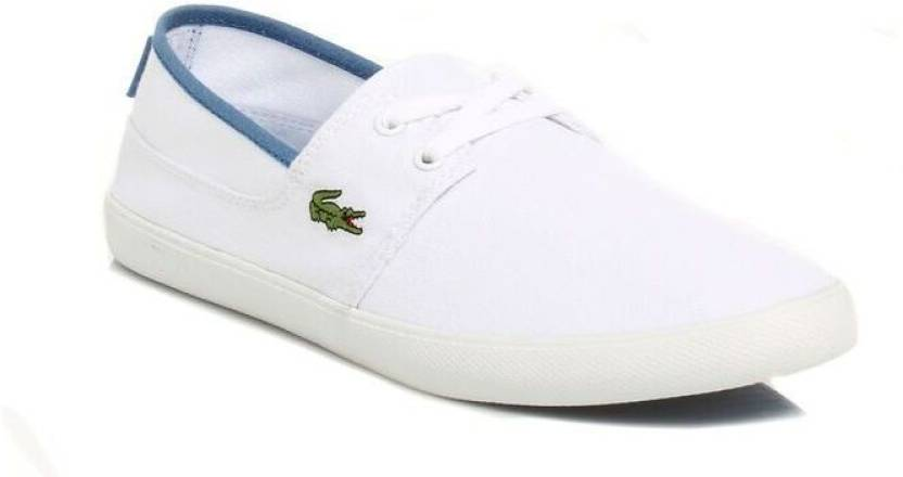 4a9659486 Lacoste Mens White Marice Canvas Shoes Casual Shoes For Men - Buy ...