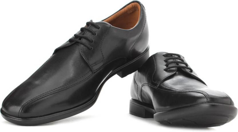 f5a79a8d Clarks Gosworth Over Black Leather Lace up For Men