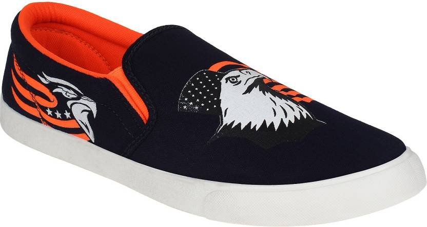 Upto 61% Off On Printed Shoes By Flipkart | Earton Blue-472 Loafers  (Multicolor) @ Rs.389