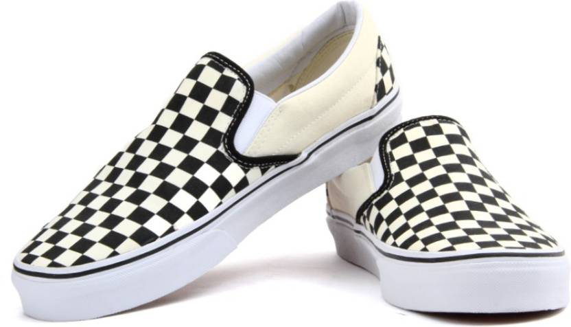 a8746c2a2132 Vans Classic Slip-On Canvas Shoes For Men - Buy Black And White ...