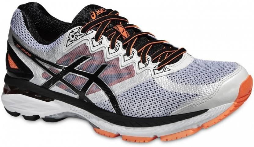 newest 6852c e5cb4 Asics Gt-2000 4 Men Running Shoes For Men (White, Black, Orange)