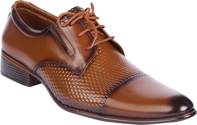 dc9e8e9ffb2c1 Karizma Shoes Tie Up Brown Lace Up Shoes For Men - Buy Tan Color ...