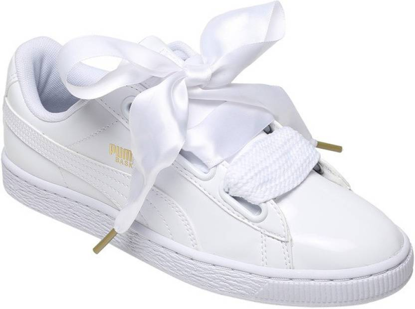Puma Basket Heart Patent Wn s Sneakers For Women - Buy Puma White ... a0b2f2926