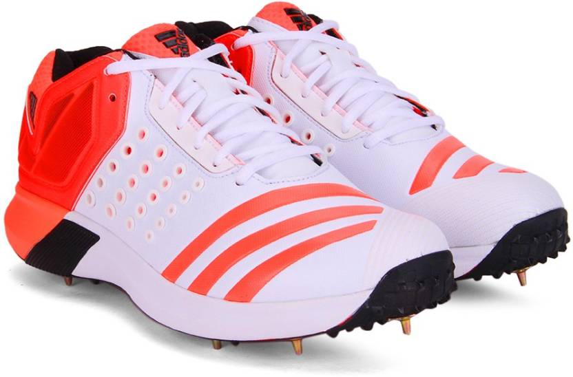 size 40 500d7 960ea ADIDAS ADIPOWER VECTOR MID Cricket Shoes For Men (Red, White)