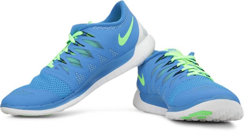 on sale 1dd3c dda57 Nike Free 5.0 Running Shoes For Men (Blue, Green)