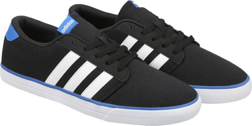 Adidas neo vs pattinare scarpe per gli uomini comprano cnero / ftwwht / colore blu